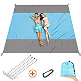 FYLINA Sand Free Beach Blanket Quick Drying Ripstop Nylon Compact Outdoor Picnic Beach