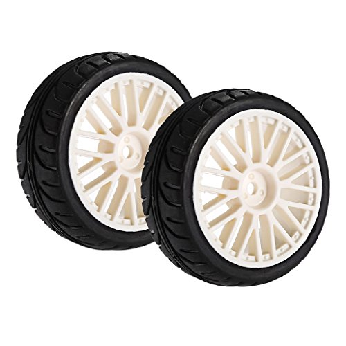Homyl Set of 2pc Tire Tyre & Wheel for 1/10 RC HPI HSP Hobao Savage XS TM Flux MT LRP Traxxas Axial