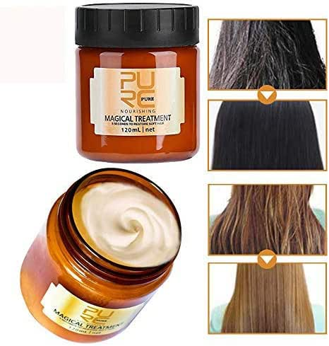 120ml Magical keratin Hair Treatment Mask 5 Seconds Repairs Advanced Molecular Hair Conditioner Root Hair Tonic Keratin Hair & Scalp Treatment Return Bouncy Restore Healthy Soft Hair Care Essence
