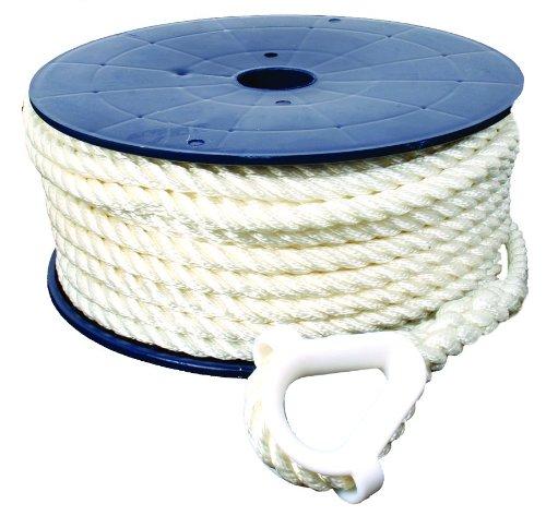 Invincible Marine BR52715 AnchorLine 1/2-Inchx150-Feet 3-Strand Nylon (Three Anchor Lines Strand)