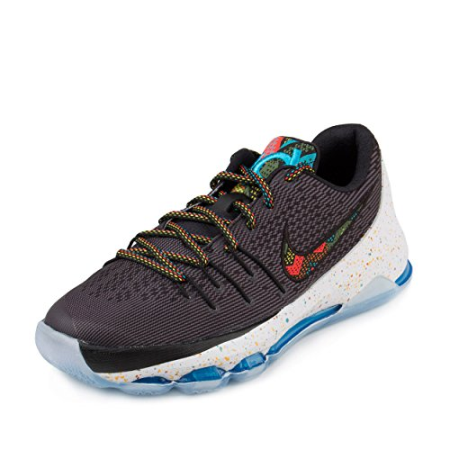 NIKE Boys KD 8 BHM (GS) Black Multi Color Basketball Sneaker (7 M US Big Kid) (Kd Basketball Shoes For Kids)