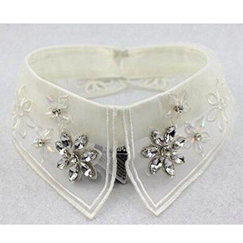 Collier à la mode Faux collier Collier détachable pour pied Collier Faux Collier-Blanc #05