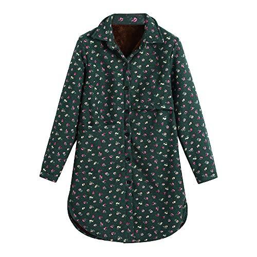 RDTIAN Women's Plus Velvet Coat, Winter Folk-Custom Cotton Linen Outcoat Jacket
