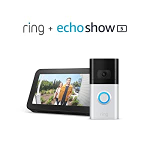 All-new Ring Video Doorbell 3 with Echo Show 5