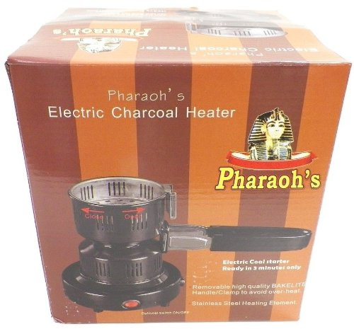 Pharaoh's Electric Hookah Charcoal Starter/Burner Removable Tray + Detachable Tongs
