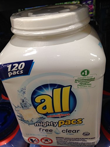 All Free & Clear mighty pacs 120 ct (pack of 6) by All Free & Clear
