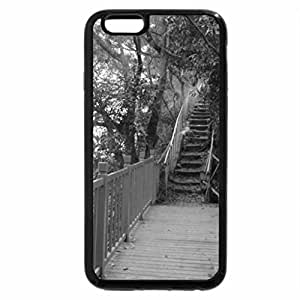 iPhone 6S Plus Case, iPhone 6 Plus Case (Black & White) - mountain trail