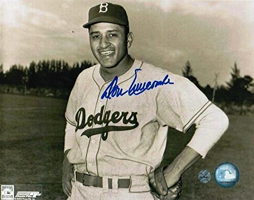 Brooklyn Dodgers Autographed Photo - Don Newcombe Brooklyn Dodgers 8x10 Photo Autographed - Autographed MLB Photos