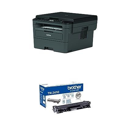 Brother DCPL2510D - Impresora multifunción láser monocromo con impresión dúplex + Brother TN-2410 Laser cartridge 1200 páginas Negro tóner y cartucho ...