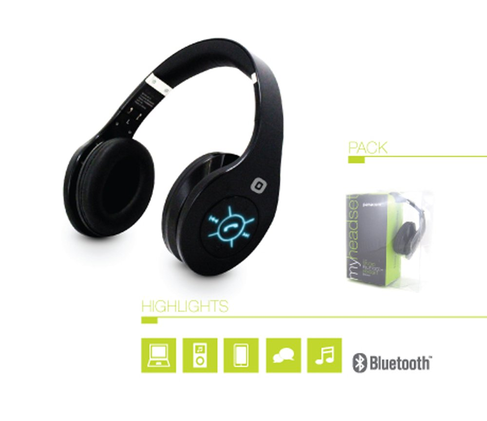 Double Bass Clear Stereo Sound Bluetooth Wireless Headphones with Hands-free and In Headset Control - Studio Edition