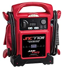 "Jump-N-Carry JNC770R 1,700 Peak Amp Premium 12 Volt Jump Starter with Master ON/OFF Switch, Extra-long 68"" Cables, Dual USB Outlets, and 3 Amp Internal Charger. To hold charge-Load test the battery. After fully charging the battery, apply a 1..."
