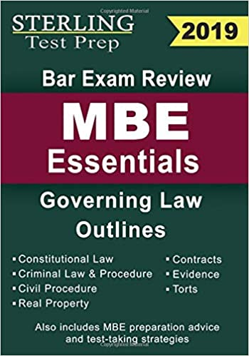 Sterling Test Prep Bar Exam Review MBE Essentials: Governing Law