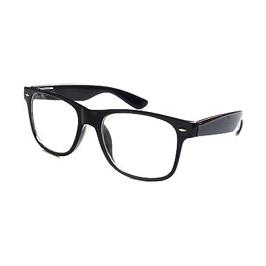 0b6bc35265284 KIDS Childrens Nerd Retro Oversize Black Frame Clear Lens Eye Glasses (Age  3-10)