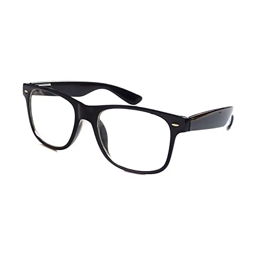 0a1af62781b Image Unavailable. Image not available for. Color  KIDS Childrens Nerd Retro  Oversize Black Frame Clear Lens Eye Glasses (Age ...