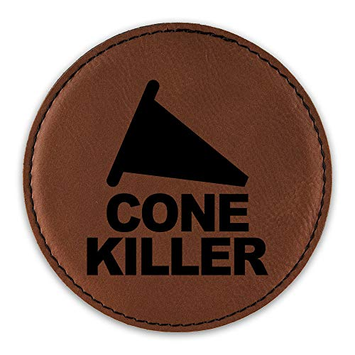 Cone Killer Drink Coaster Leatherette Round Coasters drifting jdm time attack - Rawhide - One Coaster ()