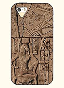 OOFIT Phone Case Design with Egyptian Murals for Apple iPhone 5 5s 5g