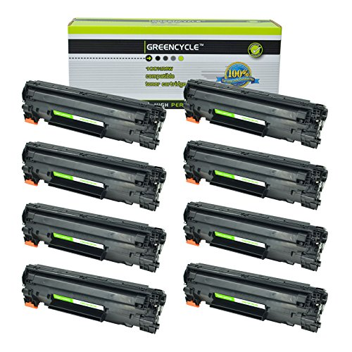 GREENCYCLE 8 PK Compatible Toner Cartridge Replacement for Canon 128 (3500B001AA) Black Toners Compatible with Imageclass D530 MF4580dn MF4412
