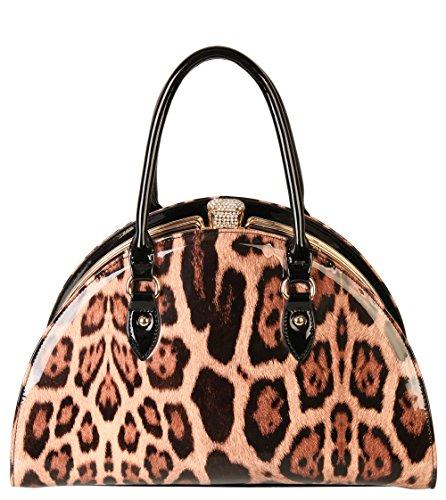 rimen-co-womens-two-tone-fashion-crocodile-pu-with-patent-handbag-purse-bm-2613-taupe