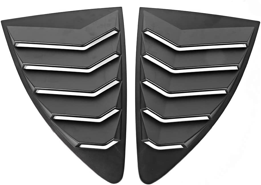 Aramox Rear Quarter Window Louvers 2 pcs//set Spoiler Panel Fit for 86 GT86 2013-2019 ABS Stickers