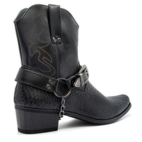 London Noir London Santiags Footwear Footwear homme qwx1OqUB