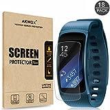 [18-Pack] Samsung Gear Fit2 Screen Protector, AKWOX