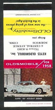 Amazon com: 1958 Oldsmobile Super 88 Holiday Sedan Keyes 6