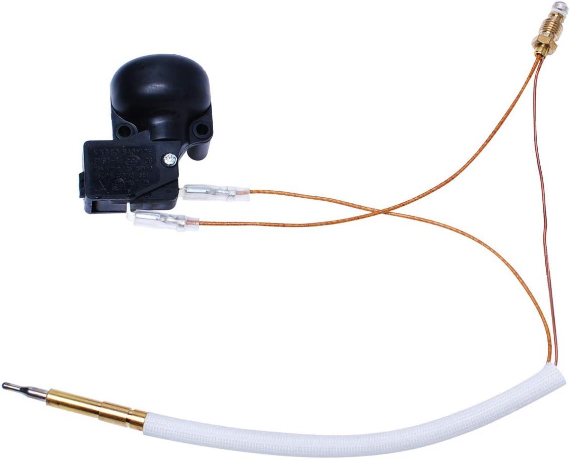 와도이 파티오 히터 써모커플 교체 야외 프로판 가스 파티오 히터 수리 교체 부품 써모커플 및 덤프 스위치 제어 안전 키트
