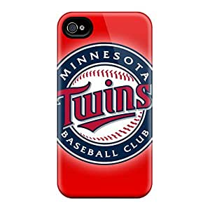 Premium Durable Minnesota Twins Fashion Tpu Iphone 4/4s Protective Case Cover