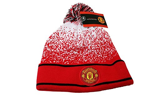 United Manchester Hat - Manchester United FC Authentic Official Licensed Product Soccer Beanie (Red white)