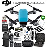 DJI Spark Portable Mini Drone Quadcopter Fly More Combo Everything You Need Bundle (Sky Blue)