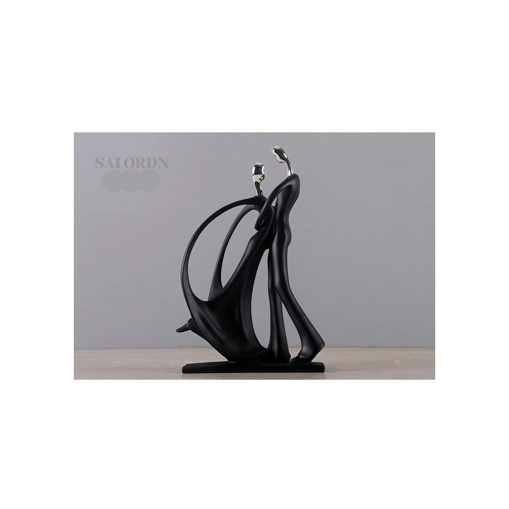 SALORDN Modern minimalist dancing couple resin ornaments decorations home accessories crafts living room furnishings wedding gifts (H2000-342) by SALORDN (Image #1)