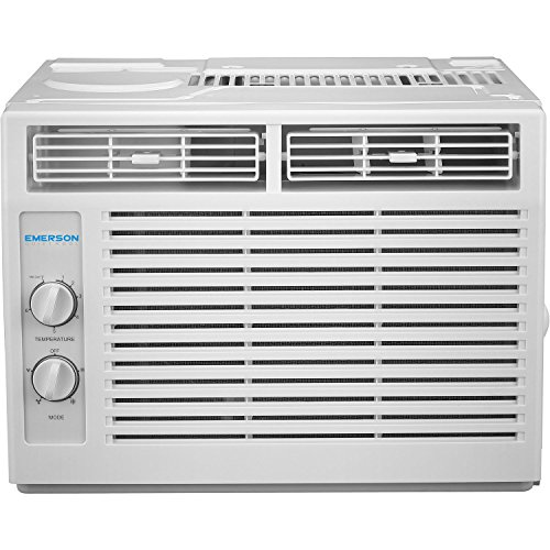 Emerson Quiet Kool EARC5MD1 5,000 BTU 115V Window Air Conditioner, 5000 Mechanical Standard, White (Best Home Air Conditioning Units)