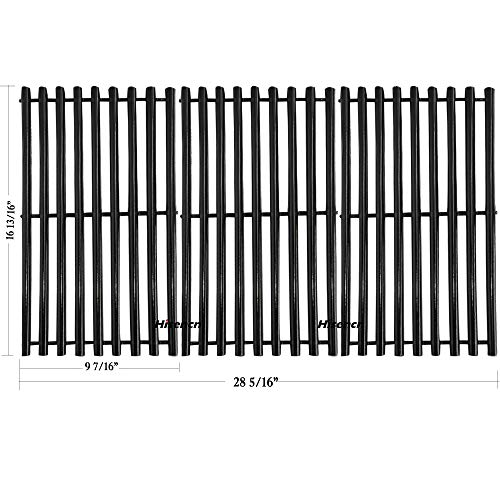 Porcelain Steel Channel Cooking Grid Replacement for Gas Grill Model Charbroil 463440109, Sold as a set of 3; aftermarket replacements