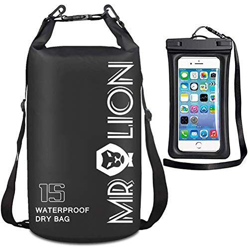 MR LION Waterproof Dry Bag Keeps Gear Dry for Water Sports with Waterproof Phone Case