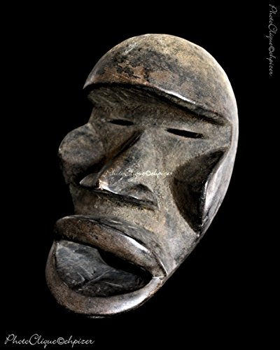 (African Art-Tribal Art/ Dan Grebo Face Mask Portrait (#2)/ Ethnographic Series/ Fine Art Photo Print)