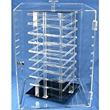Earrings Rotating Display Case Revolving 144 Card Stand