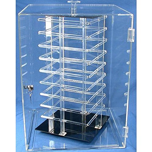 Earrings Rotating Display Case Revolving 144 Card Stand by FindingKing