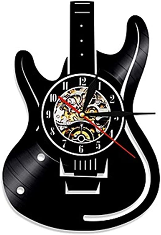 Relojes de pared Disco de Vinilo Guitarra Reloj de CD: Amazon.es ...