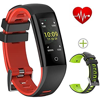 Today 50% Off! Fitness Tracker Color Display colorful UI touch screen with Heart Rate Monitor Blood Pressure Sleep Monitor IP67 Waterproof Bracelet Wristband for iOS/Android