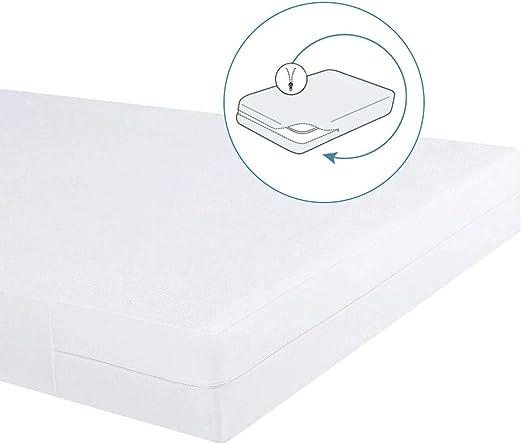 Bedecor – Funda de colchón elástica con Cremallera,Algodón ...
