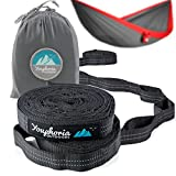 Youphoria Hammock Straps for Tree (2 Tree Straps) - 12 Loop Design - Adjustable Hammock Tree Straps with No Stretch - Perfect Suspension Straps for Hammocks & Camp Gear - Holds up to 500 lbs (250 lbs)