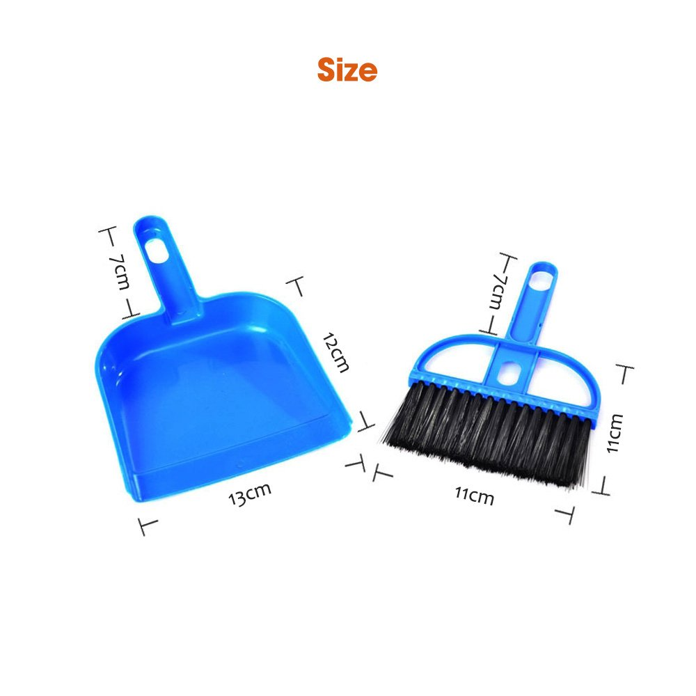 DOGGIE-DOGGIE Mini Dustpan and Broom Set,Cage Cleaner for Reptile, Hedgehog, Hamsters,Degus,Chinchilla,Guinea Pig,Rabbits and Other Small Animals,Cleaning Tool Set for Animal Waste (1 Pack)