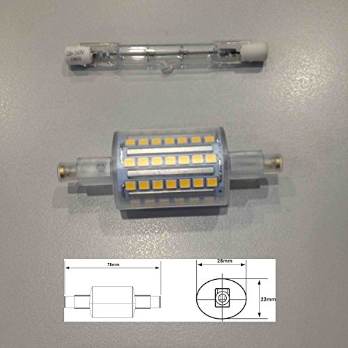 Landlite r7s 78mm led bulb j type linear halogen for Led r7s 78mm osram