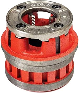 Alloy Right-Handed NPT Die Head for Nominal Pipe Size of 1-Inches RIDGID 37400 Model 12-R Hand Threader Die Head Renewed