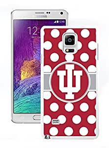 Samsung Note 4 Protective Cover Case Indiana Hoosiers IU Samsung Galaxy Note 4 White Phone Case 197