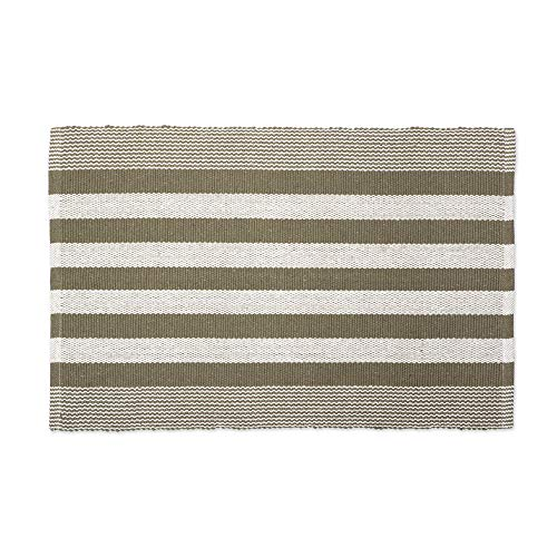 DII CAMZ11084 Contemporary Reversible Machine Washable Recycled Yarn Area Rug for Bedroom, Living Room, and Kitchen, 2 x 3', Cabana Stripe ()