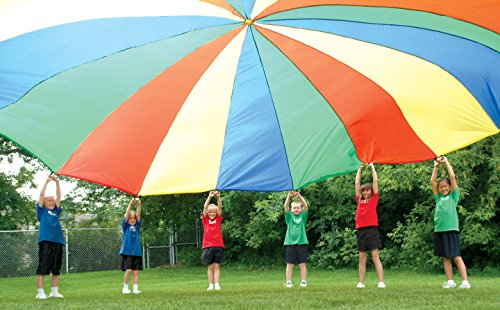 Palos Sports Multi-Colored Children's Team Building Parachute 35' with 30 Handles