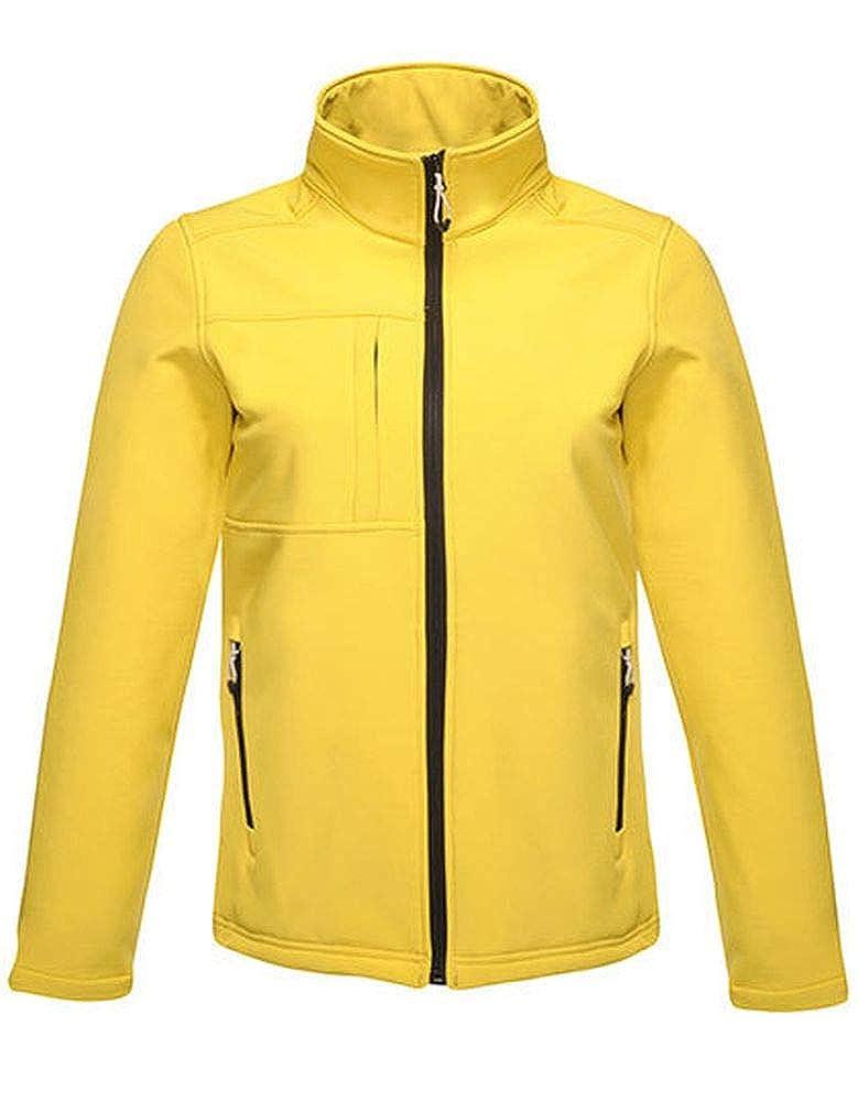 Regatta Mens Softshell Jacket - Octagon II, Größe:4XL, Farbe:Bright Yellow-Black TRA688