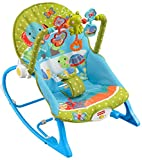 Fisher-Price Infant-To-Toddler Rocker, Green with Blue