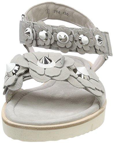 white alu Silver Sohle Pulsera Weiß Schuhmanufaktur Elle Und Mujer Para Con Grau Kennel Sandalia Schmenger 47wZqPvx